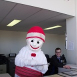 Bonhomme came to visit our team!