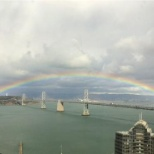 Marin Software photo: The fabulous view from our SF office + rainbow!