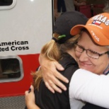 Red Cross volunteers respond to the Texas wildfires.