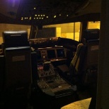 Prospect Airport Services photo: Before security search in the pilot cabin of Qatar Airways Cargo aircraft