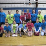 YMCA Volleyball campers 2011