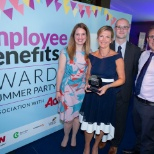 photo of Three, We won the Employee Wellbeing Award 2018.