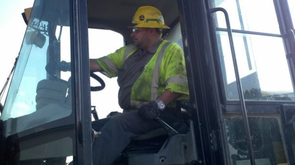 Me driving a 980 Cat Loader