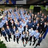 Group of associates at the yearly National Automobile Dealers Association event