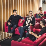 Dixons Carphone photo: Team break out areas in head office