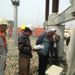 BEFORE BACK ENERGIZING 230 KV S/S necessary testing works are going on.