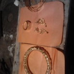 One Nakshi Bangles/One Box Ring/ One Pear Daice earing.