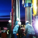 Devon Energy photo: Overseeing a casing job to help ensure appropriate levels of risk assessment