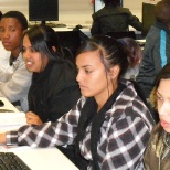 First Year students in the computer lab