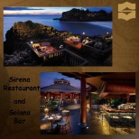 photo of Shangri-La Hotels and Resorts, The top picture is the view of the dining place and the lower picture is the solana bar.