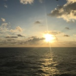 Sunrise on board the U.S.S John C. Stennis