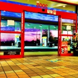 Circle K/Shell at 5 AM with beautiful AZ sunrise