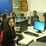 Second Year students in the computer Lab