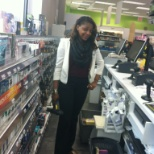 Working on the register (duane reade)