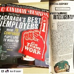 Hits newsstands net week! Check it out. @ColliersCanada listed as a company people love to work for.