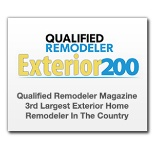 Qualified Remodeler Exterior 200 - 3rd Largest Exterior Home Remodeler in the USA