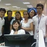with our team leader,