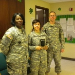 Received a glass plaque for scoring a 322/300 on the army physical fitness test.