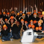 Corporate Marketing goes bowling to show off their ORANGE pride!