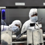 Seagate Technology photo: Cleanroom workers