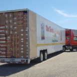Old Dutch Foods photo: This is what a typical load looks like.Truck Drivers unload 3 to 4 of these per week by hand  alone.