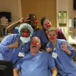 Some of our staff with their red noses to bring awareness to childhood poverty