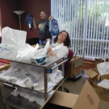 United Way photo: I was sorting 211 cards to send to the schools.