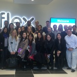 MBA Graduate Students from Columbia University tour Flex's Innovation Center