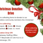 Christmas Donation Drive - Help us help those in need this winter!