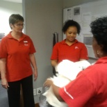 ABSA employees giving one of our colleague a fond farewell