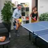 Amida Recruit photo: Intense table tennis battles.