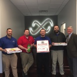Infinity, Inc. photo: That time we won free pizza from the radio station