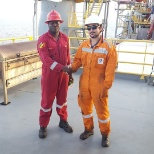 Halliburton photo: Bienvenu with total rig engineer