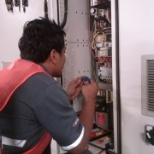 Dalkia photo: Fixing VFD for the Air Handling Unit