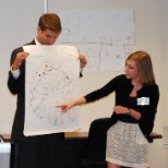 Charles Koch Institute photo: Interns present their thoughts during one of the professional education sessions.