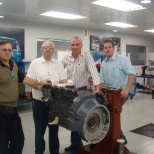 MAHLE photo: I first left, second left Mr.Antonio other Teach,  traninig to South Africa Mahle´s Technician
