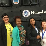 Touring HSI field office with fellow interns