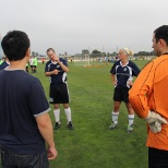 Bay Area Shutterfly employees participate in the Corporate Cup soccer tournament.