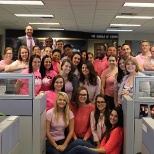 TekPartners photo: Wearing pink for Breast Cancer Awareness Month!