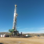One of the drilling rigs I worked and lived at