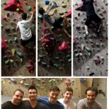 Climbing with the team!