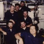 In the Sonar Shack -USS Springfield during deployment.
