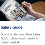 Download our salary guide https://www.hays.com.au/salary-guide