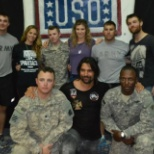 Spartacus crew came and visited with deployed soldiers
