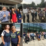 Olympus Corporation of the Americas photo: Employees from Kennewick, WA, Center Valley, PA and Waltham, MA watched the eclipse!