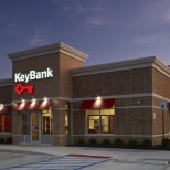 Outside of a typical KeyBank branch