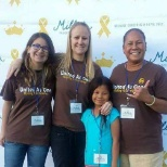 Millie Princess Run, UPS volunteered setting up the event for children battling cancer.