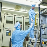 Working in cleanroom