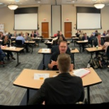 DHL photo: Speed Networking - 165 interns participated in 3, 15 min interviews with 3 different hiring managers