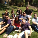 The Legacy team relaxes at one of our monthly corporate lunches.